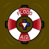 Illustration de symbole pour l'aide d'inondation Photo stock