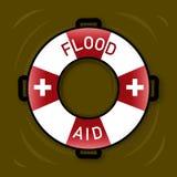Illustration de symbole pour l'aide d'inondation Image libre de droits