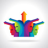 illustration de tête avec des flèches Photographie stock libre de droits