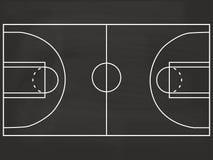 Illustration de tableau noir de terrain de basket Image libre de droits