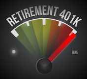 illustration de tachymètre de la retraite 401k Photos libres de droits