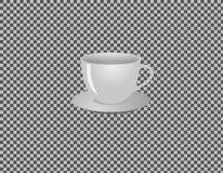 Illustration de tasse de porcelaine pour le café ou le thé d'isolement photo libre de droits