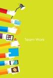 Illustration de Team Work Flat Concept Vector Image libre de droits