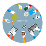 Illustration de Team Work Flat Concept Vector Photos stock