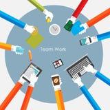 Illustration de Team Work Flat Concept Vector Photographie stock
