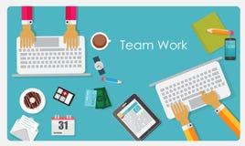 Illustration de Team Work Flat Concept Vector Photo libre de droits