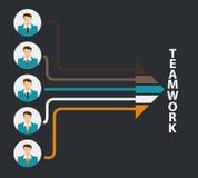 Illustration de Team Work Flat Concept Vector Photos libres de droits