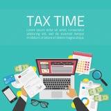Illustration de temps d'impôts images libres de droits