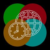 Illustration de temps du monde, zone globale de carte de temps illustration de vecteur