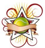 Illustration de tennis d'étoile de Swirly Photos stock