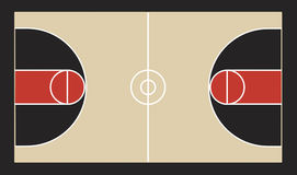Illustration de terrain de basket Photo stock