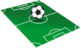 Illustration de terrain de football Images stock
