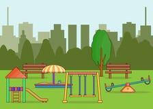 Illustration de terrain de jeu - schéma Illustration Libre de Droits