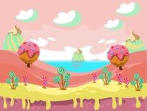 Illustration de terre douce de nourriture d'imagination Images libres de droits