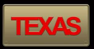 Illustration de Texas License Plate illustration stock