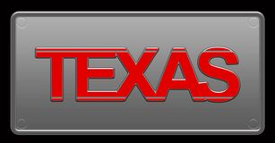 Illustration de Texas License Plate illustration de vecteur
