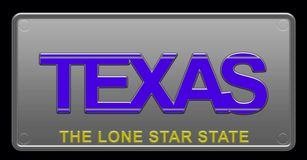 Illustration de Texas License Plate illustration libre de droits