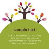 Illustration de texte d'arbre Photos libres de droits