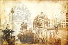 Illustration de texture d'art de Berlin Images libres de droits