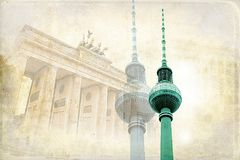 Illustration de texture d'art de Berlin Image stock