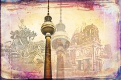 Illustration de texture d'art de Berlin Image libre de droits