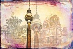 Illustration de texture d'art de Berlin Image libre de droits
