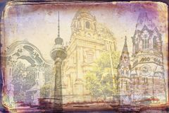 Illustration de texture d'art de Berlin Photographie stock