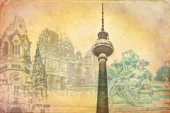 Illustration de texture d'art de Berlin Photo libre de droits
