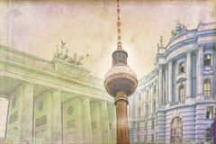 Illustration de texture d'art de Berlin Photos stock
