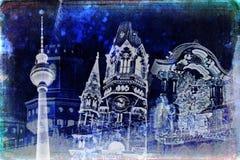 Illustration de texture d'art de Berlin Images libres de droits