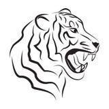 Illustration de tigre fâché Photo stock