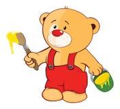 Illustration de Toy Bear Cub bourré le chef heureux de crabots mignons effrontés de personnage de dessin animé de fond a isolé le Image libre de droits