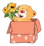 Illustration de Toy Bear Cub bourré le chef heureux de crabots mignons effrontés de personnage de dessin animé de fond a isolé le Photo libre de droits