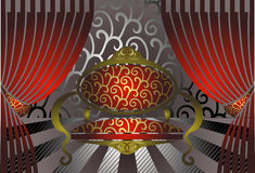 Illustration de trône Image stock