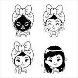 Illustration de traitement de boue de fille d'icône illustration libre de droits