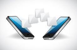 Illustration de transfert de fichier de communication de téléphone illustration libre de droits