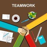 Illustration de travail d'équipe Concept de travail d'équipe Concepts plats d'illustration de conception pour le travail d'équipe Photographie stock