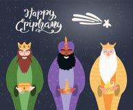 Illustration de trois rois, citation d'épiphanie illustration libre de droits