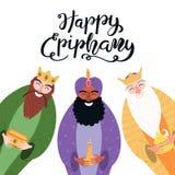 Illustration de trois rois, citation d'épiphanie illustration stock