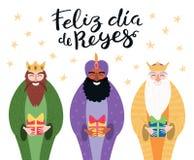 Illustration de trois rois, citation dans l'Espagnol illustration libre de droits