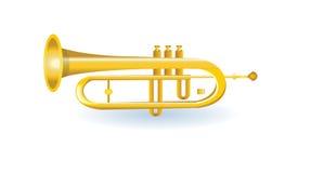 Illustration de trompette d'or Photographie stock
