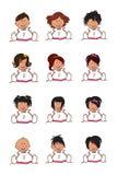 Illustration de type de cheveu d'enfants Illustration Libre de Droits