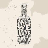 Illustration de typographie de bière Lettrage à l'intérieur de la bière illustration de vecteur
