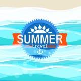 Illustration de vacances de bord de la mer d'été Images stock