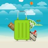 Illustration de vacances de bord de la mer d'été Photo libre de droits