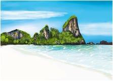 Illustration de vacances de vecteur avec l'été Images libres de droits