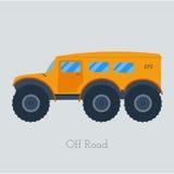 Illustration de vechicle de pays croisé Camion d'isolement d'atv Outre du véhicule routier extérieur Image libre de droits