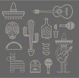 Icônes du Mexique Photos stock