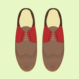Illustration de vecteur avec des chaussures de mode des hommes Chaussures classiques de brogue Photo libre de droits