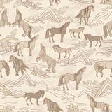 Illustration de vecteur avec des chevaux illustration libre de droits